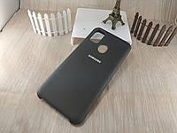 """Оригинальный чехол """"Silicon case"""" для Samsung Galaxy M30s (2019) M307 Soft Touch - черный с логотипом"""
