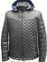 Демисезонная мужская куртка. Темно серого цвета., фото 1
