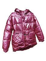 Стильная розовая демисезонная дутая куртка оверсайз