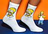 """Носки белые с оригинальным принтом """"Гомер"""", фото 2"""