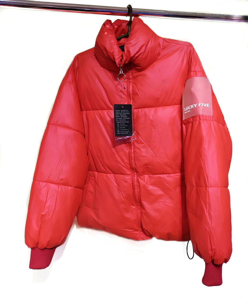 Куртка женская LUCKY FIVE, красная,  размер S, L
