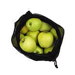 Мешочки для овощей и фруктов 4 шт. (многоразовые, с фиксатором), фото 6