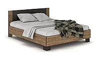 Кровать Вероника 140 (каркас без ламелей) венге темный/април