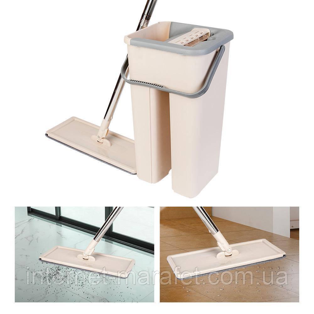 Швабра Easymop Self-Wash с ведром + отжим.