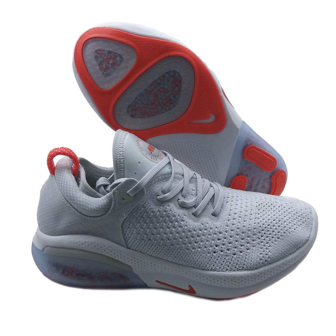 Кроссовки похожие на Nike Joyride Run Flyknit Серо-оранжевый