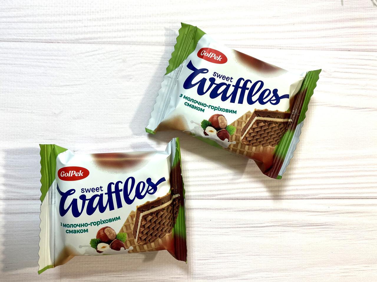 Вафельная конфета свит вафель (sweet waffles) с орехом 1.5 кг