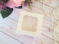 Коробка для изделий ручной работы с окном, 80х80х35 мм, цвет молочный, 1 шт