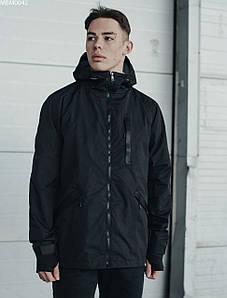 Мужская молодежная черная весеняя куртка Staff snou black MBM0042