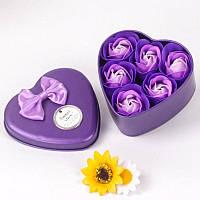 Ароматизированное мыло для ванны в коробочке 6 шт (фиолетовый)