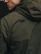 Молодежный анорак (ветровка) хаки Staff wog navy HH0166, фото 3