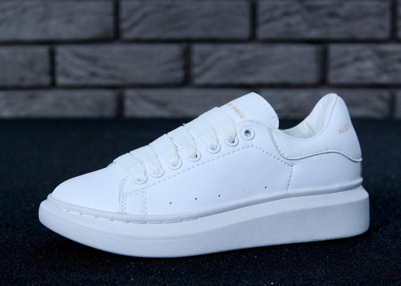 Женские кроссовки Alexander McQueen Oversized Sneakers. ТОП Реплика ААА класса.