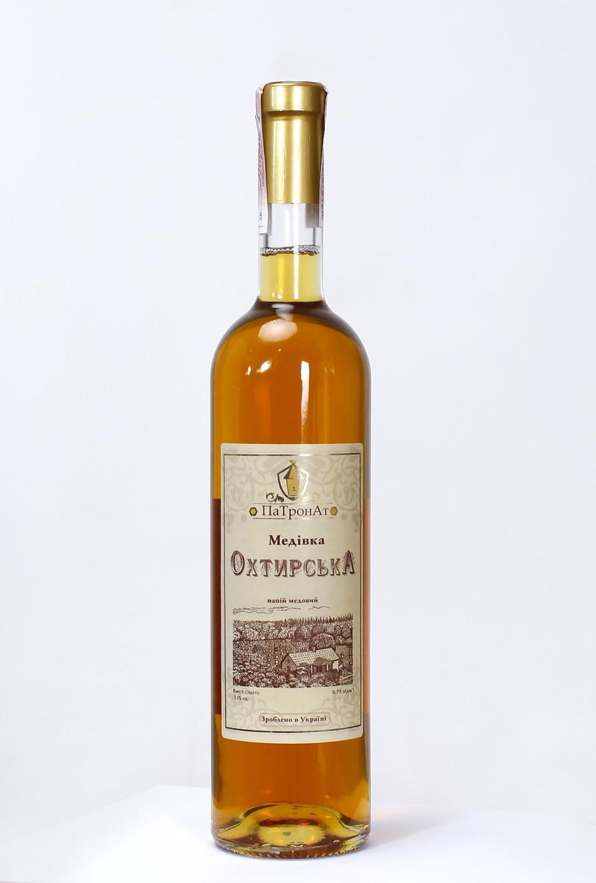 """Ексклюзивне медове вино """"Охтирська медівка з горобиною ПаТронАт"""" 0,75 л, 13%"""