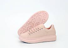 Женские кроссовки Alexander McQueen Oversized Sneakers Pink. ТОП Реплика ААА класса., фото 3