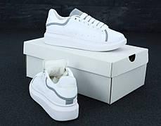Женские кроссовки Alexander McQueen Oversized Sneakers. Рефлектив. ТОП Реплика ААА класса., фото 2