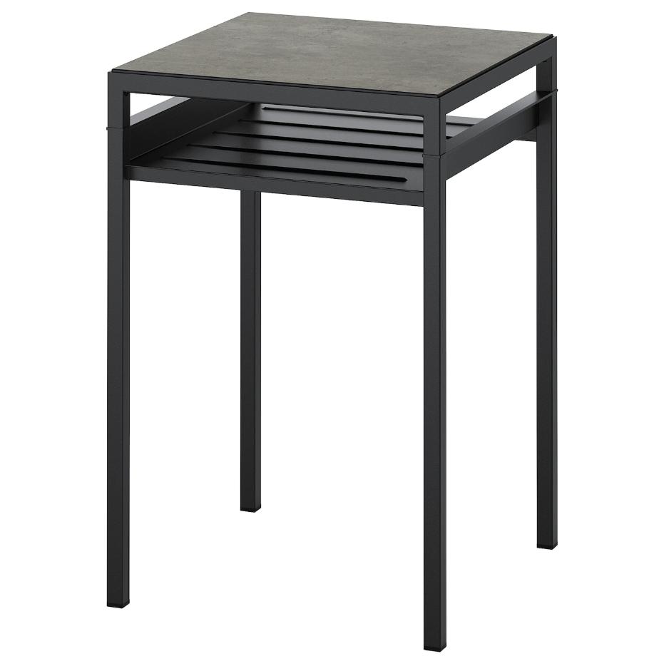 Столик с двусторонней столешницей IKEA NYBODA темно-серый черный 40x40x60 см 504.526.31