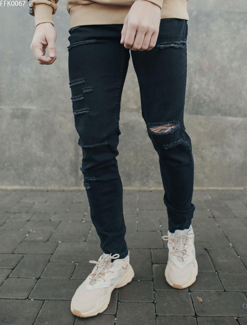 Молодежные джинсы с декоративными разрывами Staff wagner damage FFK0067