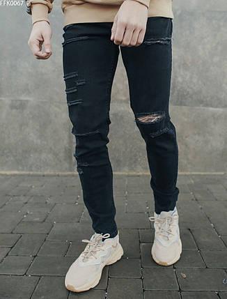 Молодежные джинсы с декоративными разрывами Staff wagner damage FFK0067, фото 2