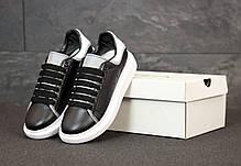Женские кроссовки Alexander McQueen Oversized Sneakers. Рефлектив. ТОП Реплика ААА класса., фото 3