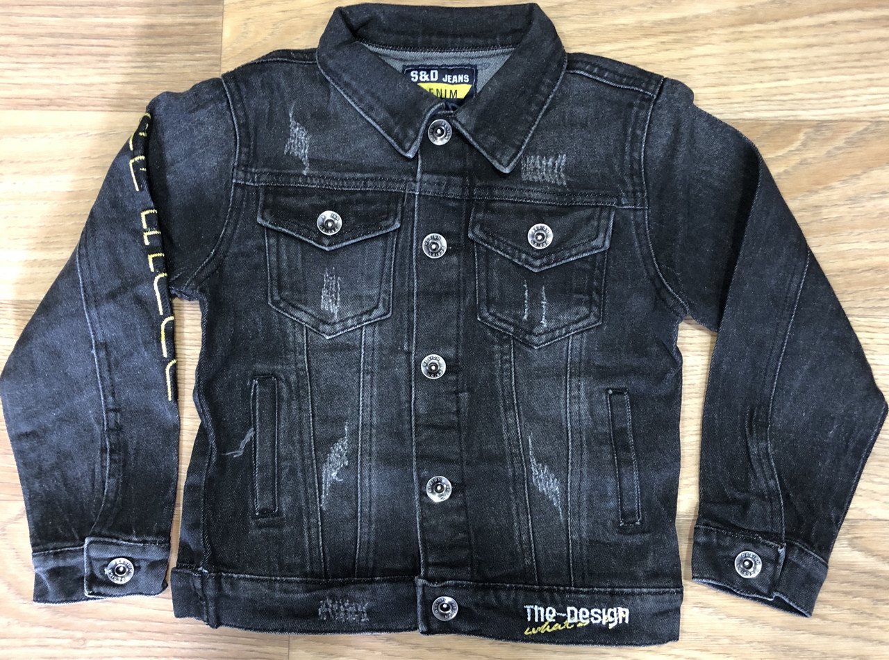 Куртка джинсовая для мальчиков оптом, S&D, 6-16 лет, арт. DT-1135