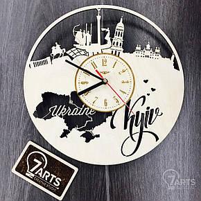 Интерьерные деревянные часы настенные Киев, фото 2