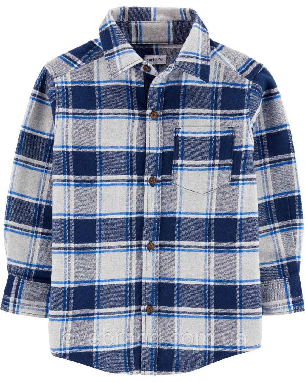 Фланелевая рубашка для мальчика Carter's в клеточку 2Т/86-93 см