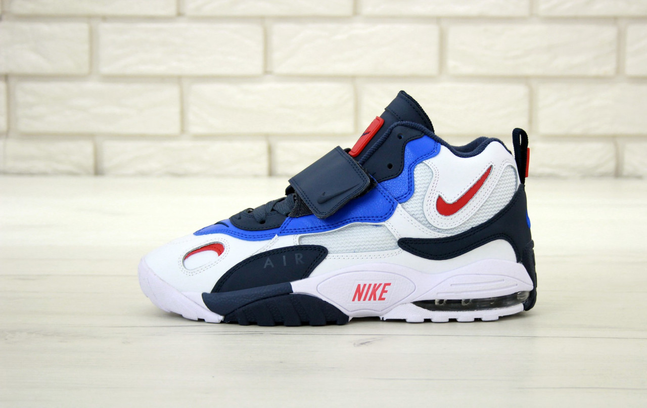 Мужские кроссовки Nike Air Max Speed Turf. White Black Blue. ТОП Реплика ААА класса.
