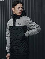 Весенняя черно-серая мужская куртка Staff ter gray & black HH0161