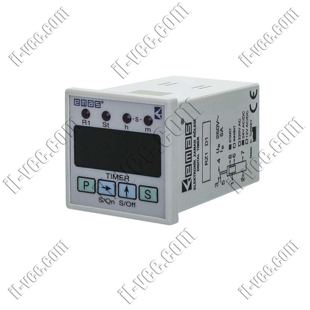 Цифровое многофункциональное реле времени EMAS RZ1D1S-2, 24V AC/DC, 2A/250VAC