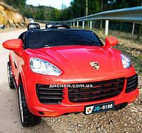 Детский электромобиль M 3557 EBLR-3 Porsche с кожаным сиденьем, красный