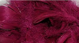 Перья для декора натуральные,малиновые , 12 грамм