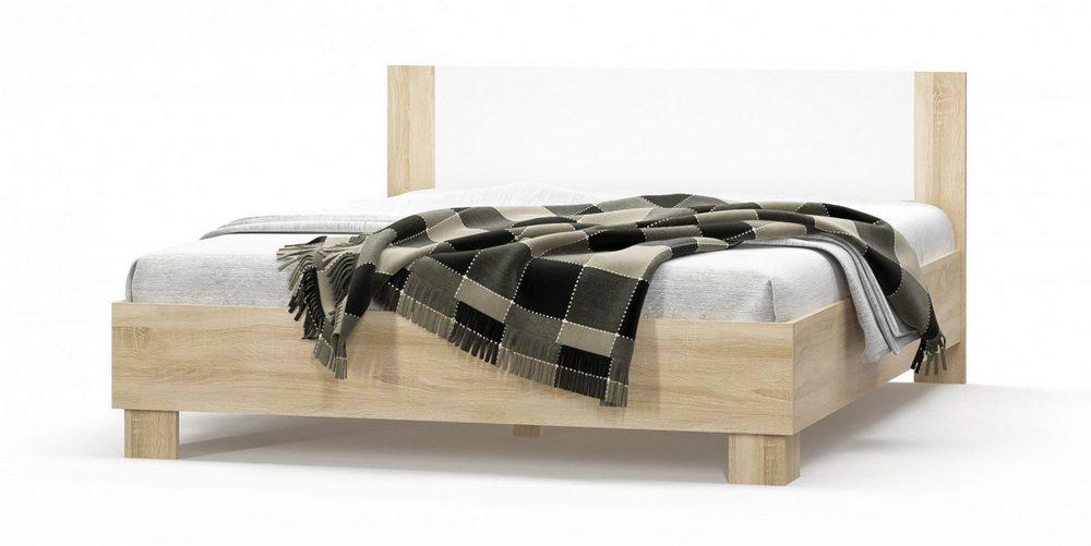 Кровать Маркос 160 (каркас без ламелей) дуб самоа/белый