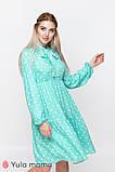 Платье для беременных и кормящих TEYANA DR-10.041 аквамарин в горошек, фото 6