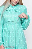 Платье для беременных и кормящих TEYANA DR-10.041 аквамарин в горошек, фото 3