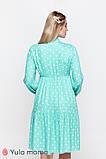 Платье для беременных и кормящих TEYANA DR-10.041 аквамарин в горошек, фото 5
