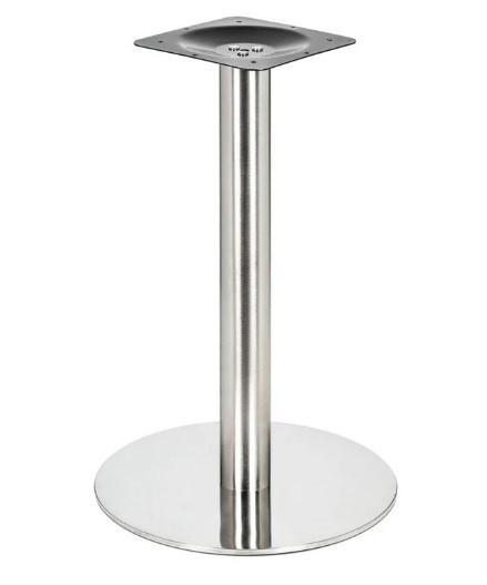 Опора для стола Тахо, металл, нержавейка, высота 72 см, диаметр 45 см