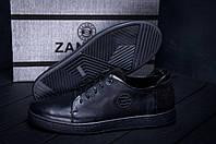 Мужские кожаные кеды ZG GO GO Man Black spring 40,42,44,45