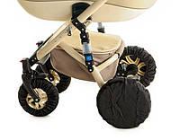 Набор чехлов на колеса для коляски с передними поворотными универсальные 4шт о