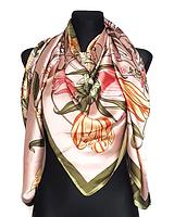 Шелковый платок Флоренция, 135*135 см,пудровый