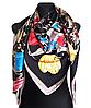 Шелковый платок Fashion Флоренция 135*135 см черный