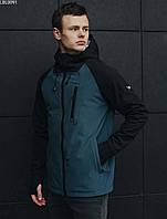 Мужская легкая весенняя куртка Staff soft shell Solar black & navy LBL0091