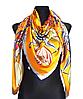 Шелковый платок Fashion Флоренция 135*135 см желтый