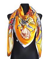 Шелковый платок Fashion Флоренция 135*135 см желтый, фото 1