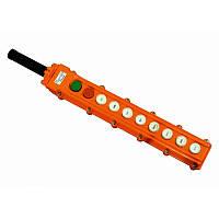 Пульт кнопковий ПКТ  10 кнопок ( 8 кнопок + 1 зелена ПУСК + 1 червона СТОП ) IP54  ElectrO (шт.)
