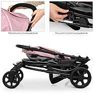 Детская коляска El Camino ME 1011L ZETA Pale Pink розовый 5-ти точечные ремни безопасности, фото 5