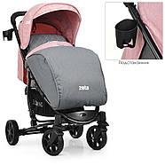 Детская коляска El Camino ME 1011L ZETA Pale Pink розовый 5-ти точечные ремни безопасности, фото 3