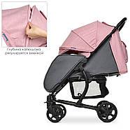 Детская коляска El Camino ME 1011L ZETA Pale Pink розовый 5-ти точечные ремни безопасности, фото 2