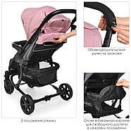 Детская коляска El Camino ME 1011L ZETA Pale Pink розовый 5-ти точечные ремни безопасности, фото 7