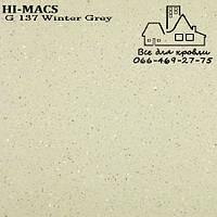 Акриловыйкамень LG Hi-Macs Granite G137 Winter Gray Днепр