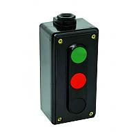 Пост кнопковий ПК722-3  10A  230/400B  IP44 (корпус карболіт, 1 червона, 1 чорна, 1 зелена)  ElectrO (шт.)