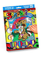 Фреска из цветного песка SAND ART Danko Toys Бурундук SA-01-02